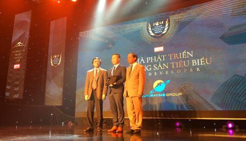 Sunshine Group nhận giải Nhà phát triển Bất động sản tiêu biểu Việt Nam 2018.