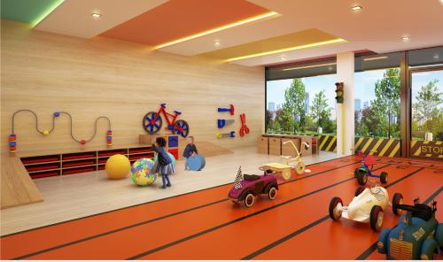 Không gian vui chơi trong nhà của trẻtrang bị đầy đủ các thiết bị, đồ chơi. Liên hệ dự án qua hotline (028)62858868, email info@palm-city.com.vnhoặc truy cập tại đây.(Ảnh phối cảnh)