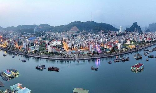 Một góc thành phố Hạ Long, tỉnh Quảng Ninh.