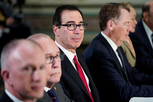 Đoàn đàm phán Mỹ trong cuộc gặp hồi tháng 2. Ảnh: Reuters