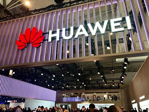 Một trong các gian hàng của Huawei tại MWC ở Barcelona (Tây Ban Nha) tháng trước. Ảnh: CNBC