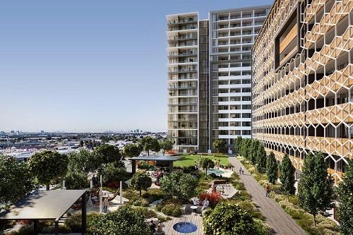 Quang cảnh công viên nội khu 3,.600 2 thuộc dự án căn hộ Granville Place tại Sydney (Austarlia) của tập đoàn Shokai và công ty Develotek. Dự án lớn với nhiều ưu đãi được giới chuyên môn dự báo là tâm điểm chú ý của người mua Việt Nam trong tháng 4.
