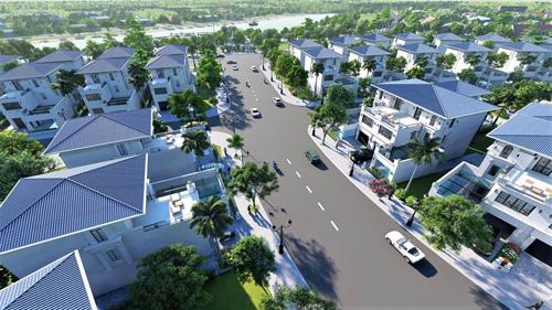 Dự án Làng Việt kiều quốc tế tọa lạc tại phường Vĩnh Niệm, quận Lê Chân, TP.Hải Phòng. Dự án có tổng diện tích gần 92.233m2, với 50,928m2 để xây dựng 189 Biệt thự và shophouse. Phần diện tích còn lại được dùng để trồng xây xanh, với diện tích trung bình 27.5 m2 cây xanh/ lô.