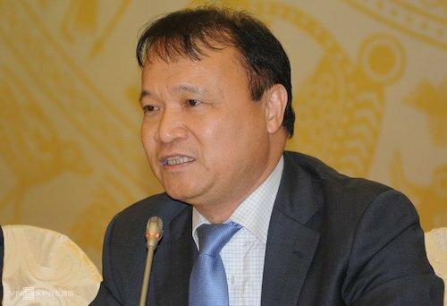 Ông Đỗ Thắng Hải - Thứ trưởng Bộ Công Thương tại họp báo Chính phủ chiều 2/4. Ảnh: Viết Tuân
