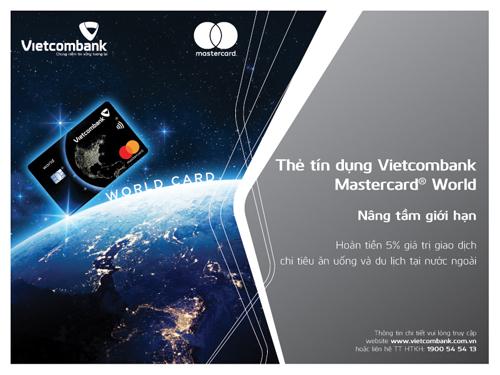Thẻ tín dụng quốc tế Vietcombank Mastercard World sở hữu nhiều tính năng và ưu đãi vượt trội.