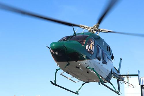 Trực thăng Ascent sử dụng để cung cấp dịch vụ đi chung. Ảnh: Ascent