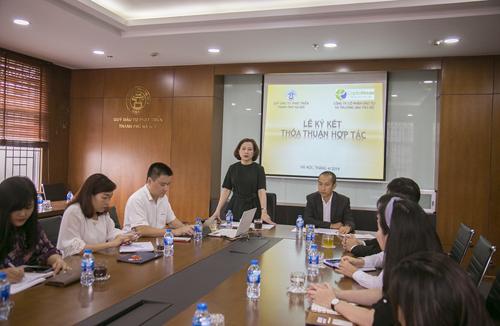 Bà Chu Nguyên Thành - Tổng giám đốc HANIF phát biểu tại lễ ký kết.