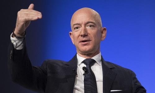 Jeff Bezos - ông chủ đại gia bán lẻ Amazon. Ảnh: AFP