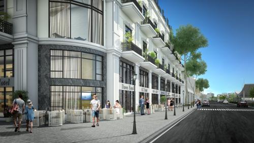 Phối cảnh một mô hình mini hotel đang được đầu tư xây dựng tại Hạ Long