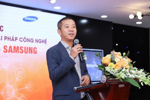Ông Nguyễn Sơn Trường đại diện của Samsung chia sẻ về xu thế giao dịch bất động sản trực tuyến.