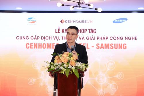 Ông Ngô Vĩnh Quý đại diện của Viettel mong muốn cùng CenHomes giải quyết bài toán kết nối cung cầu trên thị trường.