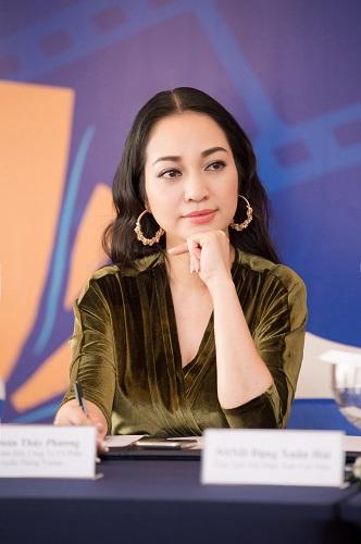 Bà Đoàn Thúy Phương - Tổng giám đốc công ty Vietart, đơn vị thực hiện chương trình.