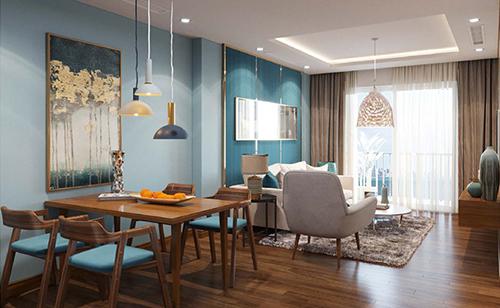 Ảnh phối cảnh nội thất tiện nghi trong mỗi căn hộ Ramada by Wyndham Ha Long Bay View.