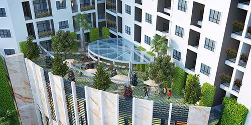 Vườn thượng uyển - một trong những tiện ích nội khu đẳng cấp tại dự án.