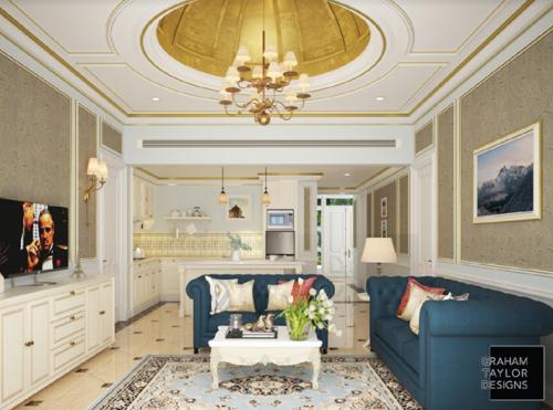 Căn hộ dự án Lan Rừng Resort & Spa Phước Hải được thiết kế châu Âu.