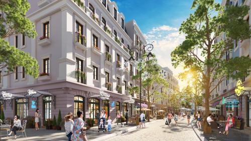 Phối cảnh khu phố Boutique Shophouse Melodia - nơi kỳ vọng trở thành trung tâmmua sắm mới ở đảo ngọc.