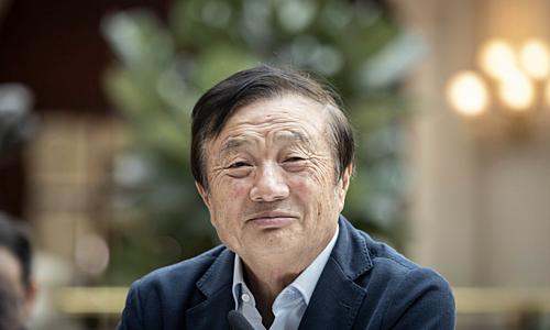 Chủ tịch kiêm CEO Huawei Nhậm Chính Phi. Ảnh: CGTN