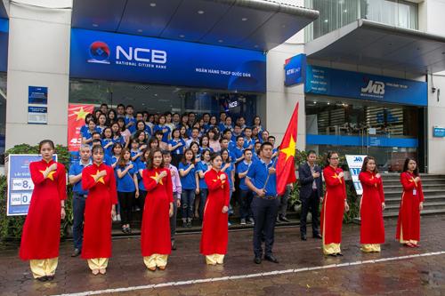 Hoạt động chào cờ đầu tuần của NCB