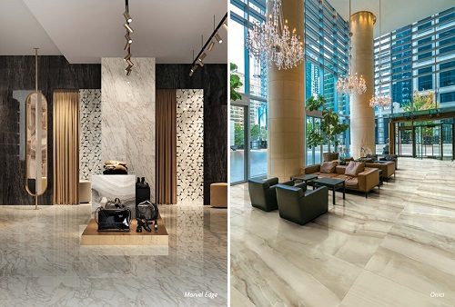 Màu sắc thanh lịch giúp gạch vân đá marble dễ kết hợp cùng các đồ trang trí nội thất.