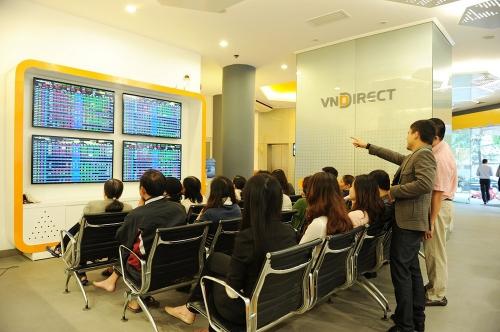 Sàn giao dịch chứng khoán của Công ty VNDirect. Ảnh: VNDirect