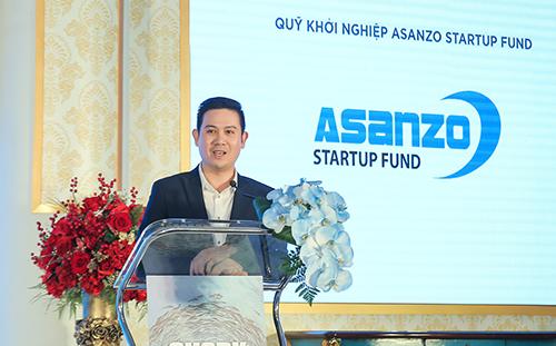 Shark Tam phát biểu trong sự kiện Công bố Đối tác chiến lược.