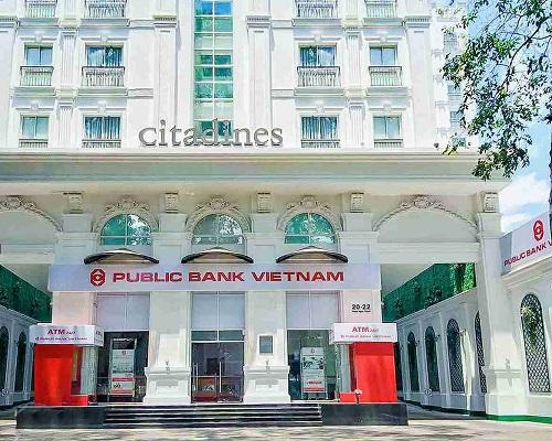 Phòng giao dịch Phạm Ngọc Thạch (được đổi tên từ phòng giao dịch Nguyễn Trãi) tại địa điểm mới số 20-22 phố Phạm Ngọc Thạch, phường 6, quận 3.