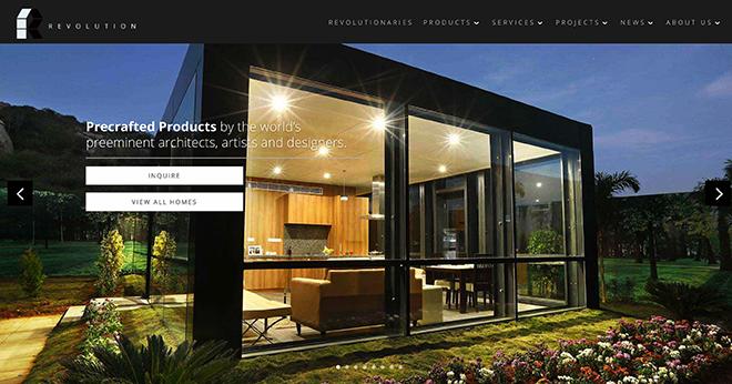 Giao diện website revolutionprecrafted.com đơn giản và dễ thao tác