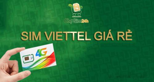Sim Viettel giá rẻ được nhiều người ưa chuộng.