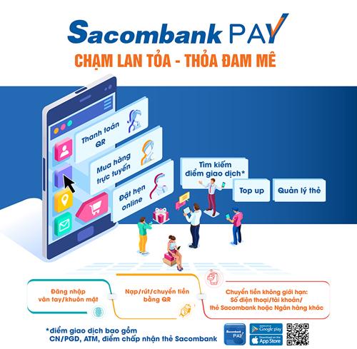 Ứng dụng Sacombank Pay là nền tảng cung cấp đa dạng các dịch vụ, tiện ích tài chính.