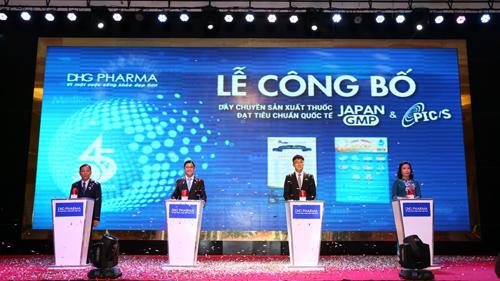 Dược Hậu Giang công bố 2 dây chuyền thuốc đạt chuẩn PIC/S-GMP và Japan-GMP ngày 12/4