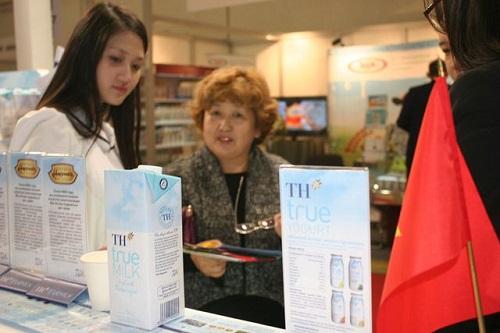Hiện nay, sữa là một trong số ít những sản phẩm của Việt Nam được TH TrueMilk đưa thành côngra thị trường Trung Quốc và ASEAN.