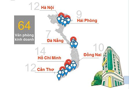 Mạng lưới văn phòng kinh doanh Cathay Việt Nam