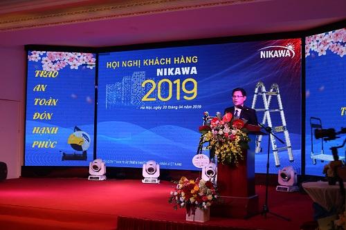 Đại diện Nikawa Việt Nam giới thiệu về định hướng hoạt động của công ty trong năm 2019.