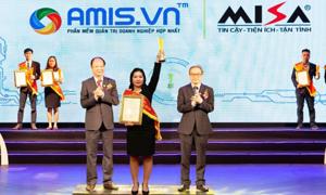 Phần mềm quản trị doanh nghiệp AMIS.VN nhận danh hiệu Sao Khuê 2019