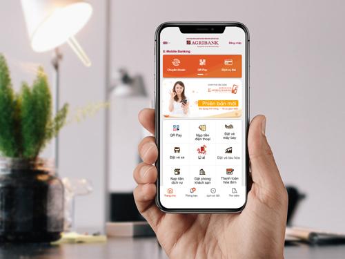 Ứng dụng di động Agribank E-Mobile Banking có giao diện đẹp mắt, dễ sử dụng.