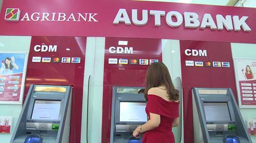 Hệ thống máy ATM đa năng của Agribank.