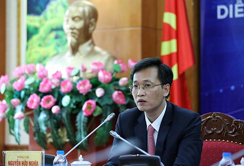 Ông Nguyễn Hữu Nghĩa, Phó trưởng ban Kinh tế Trung ương, Trưởng ban tổ chức Diễn đàn phát biểu tại buổi họp báo công bố sự kiện. Ảnh: Ngọc Thành