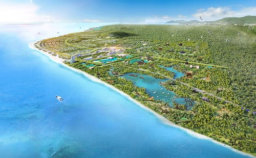 Phối cảnh dự án nghỉ dưỡng tại Bà Rịa - Vũng Tàu của một đại gia bất động sản có trụ sở trú đóng tại TP HCM.
