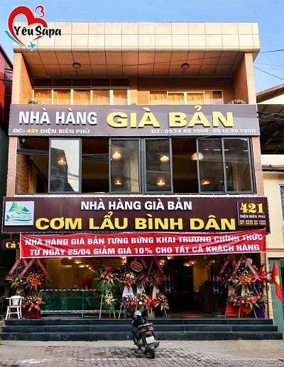 Nhà hàng Già Bản ở số 421, Điện Biên Phủ, Thị trấn Sapa.
