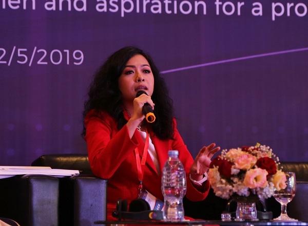 Bà Trần Uyên Phương - Phó Tổng Giám đốc Tập đoàn Tân Hiệp Phát.