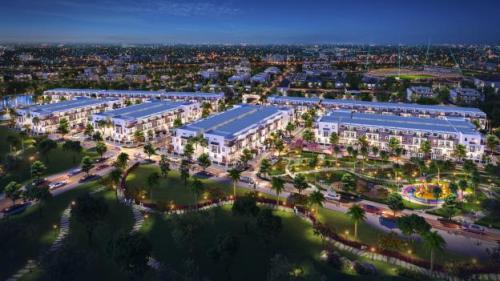 Phối cảnh dự án Thành Đô có tổng vốn đầu tư hơn 350 tỷ đồng tọa lạc tại quận Ô Môn -Cần Thơ. Hotline đơn vị phối dự án Đất Xanh Tây Nam Bộ: 0898331179.