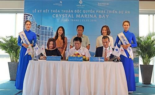 Crystal Bay ký kết độc quyền phát triển dự án Crystal Marina Bay với KW Phúc An và Hoàng Mai Media (xin bài edit) - 1