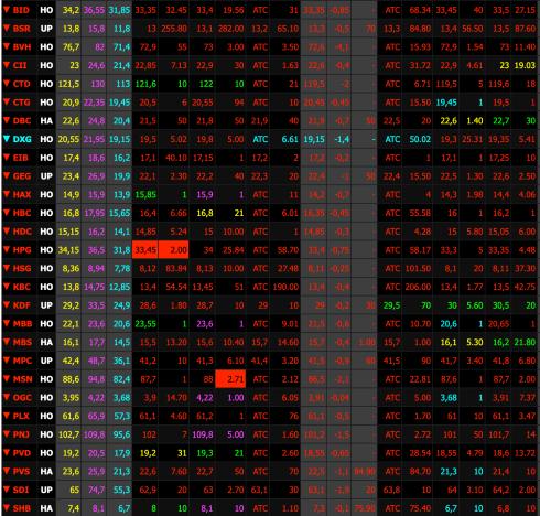 Sắc đỏ lan rộng trên thị trường trong phiên giao dịch hôm nay (6/5). Ảnh: SSI