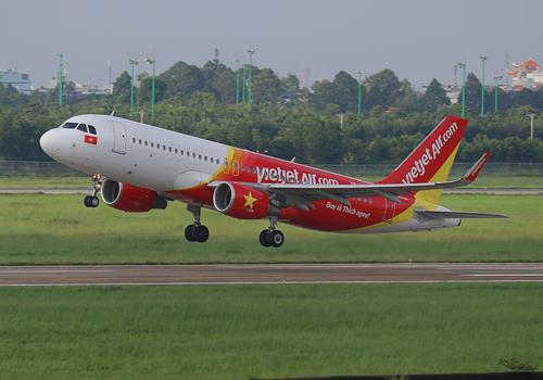 Doanh thu vận tải hàng không Vietjet tăng 28% trong quý I.