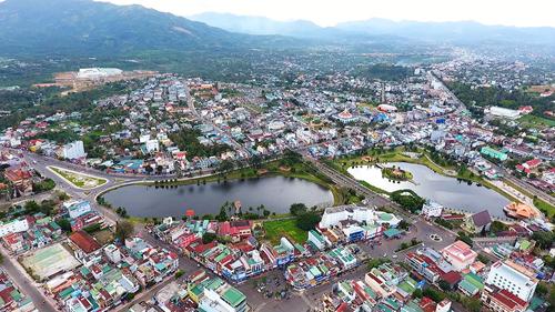 Nhìn từ trên cao,Bảo Lộc đã phát triển thành thành phố sầm uất, sôi động.