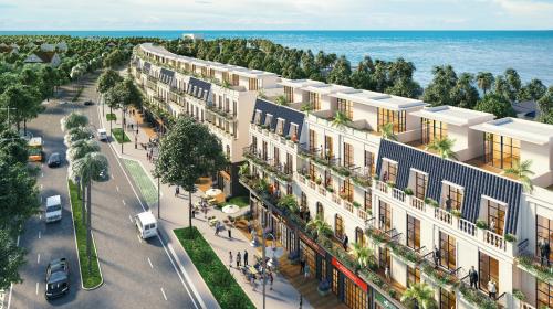 Nền nhà phố thương mại Shophouse La Rina cómức giá công bốtừ 12,8 triệu đồng mỗi m2.