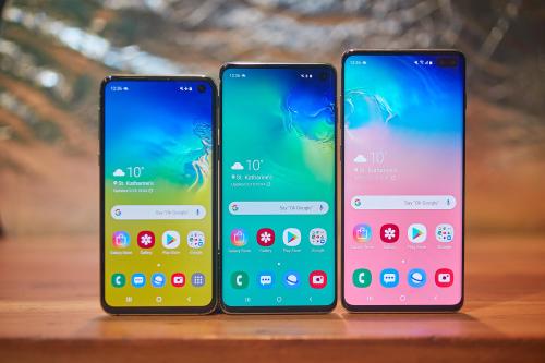 Dòng sản phẩm Galaxy S10, S10 Plus của Samsung.