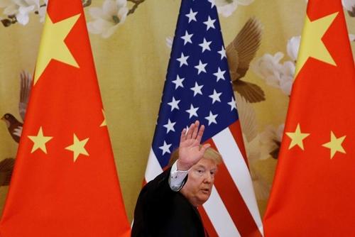 Tổng thống Mỹ - Donald Trump tại Bắc Kinh năm 2017. Ảnh: Reuters