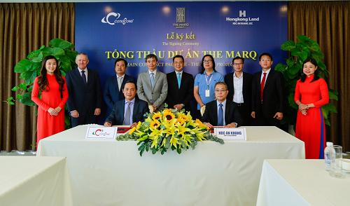 Lễ ký kết giữa chủ đầu tư và Coteccons.
