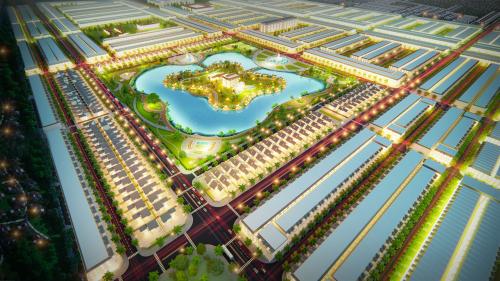 Hồ điều hòa tại trung tâm dự án là điểm nhấn đáng chú ý của Happy Home Cà Mau